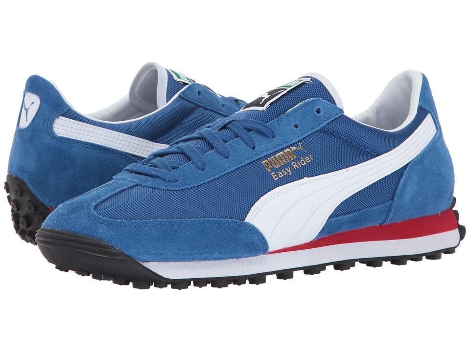 PUMA - Easy Rider (True Blue/Puma White) Men's Shoes