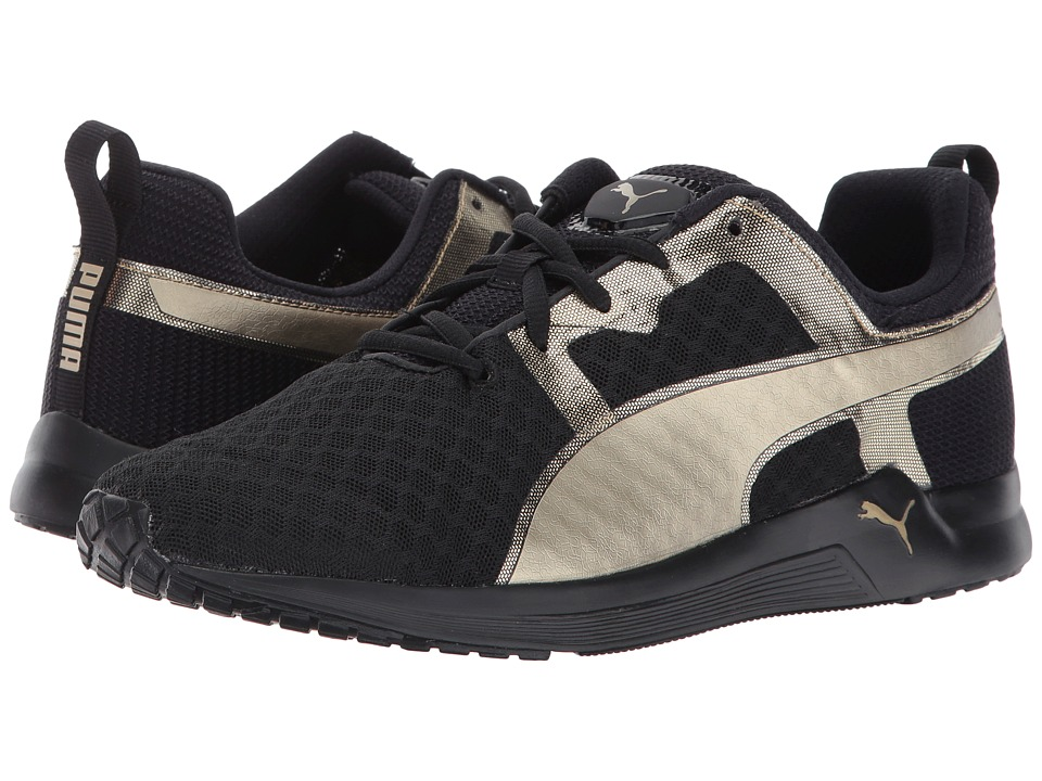 PUMA - Pulse XT Metallic (Black/Metallic Gold) Women's Lace up casual Shoes