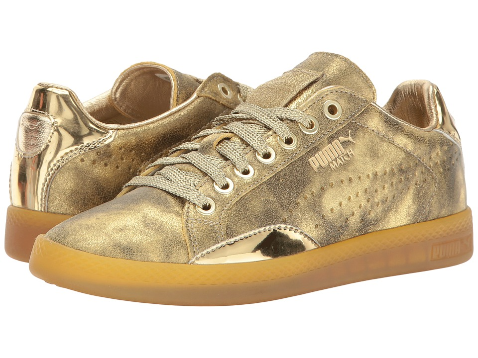 PUMA - Match Lo (Gold) Women's Lace up casual Shoes