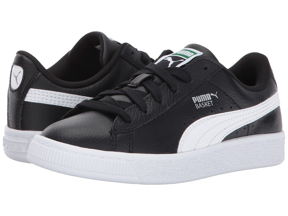 Puma Kids Basket Classic LFS PS (Little Kid/Big Kid) (Puma Black/Puma White) Kids Shoes