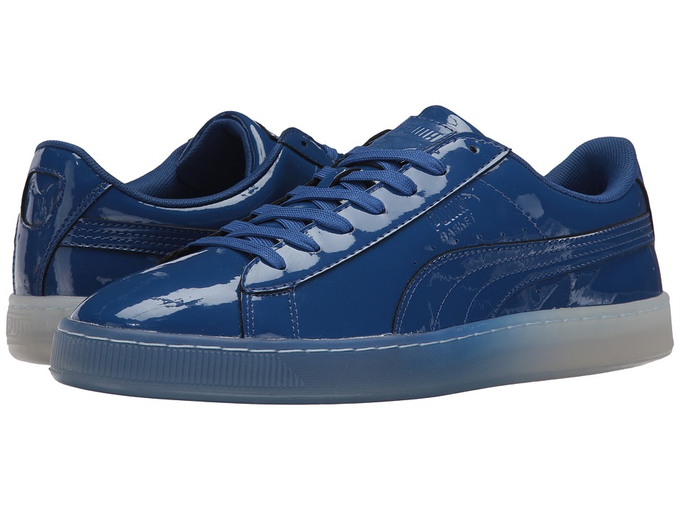 PUMA - Basket Patent Ice Fade (Limoges) Men's Lace up casual Shoes