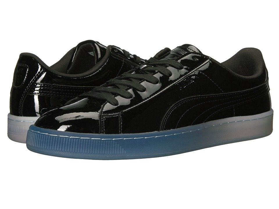 PUMA - Basket Patent Ice Fade (PUMA Black) Men's Lace up casual Shoes
