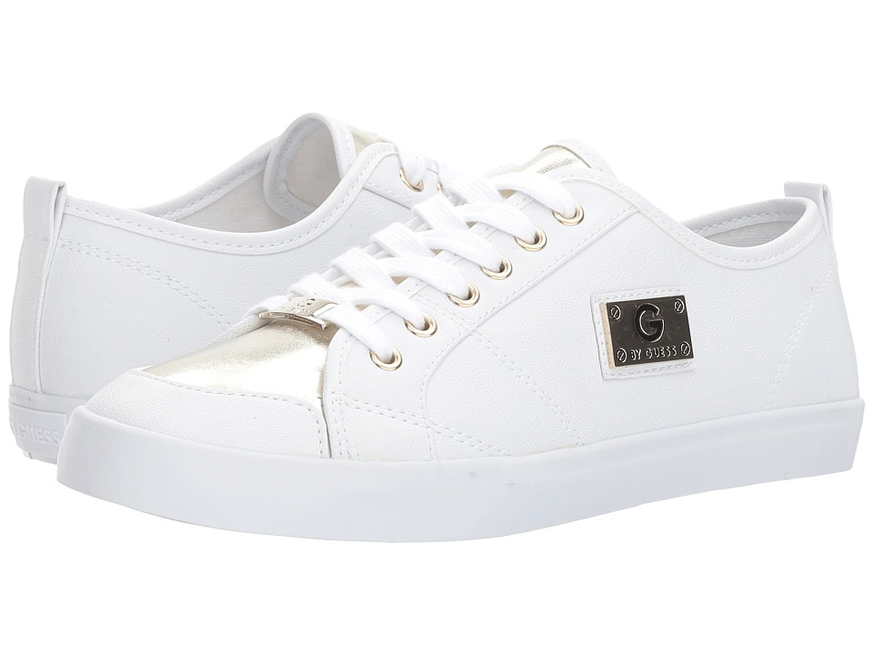 G by GUESS - Mallory6 (White/Gold Toe) Women's Shoes