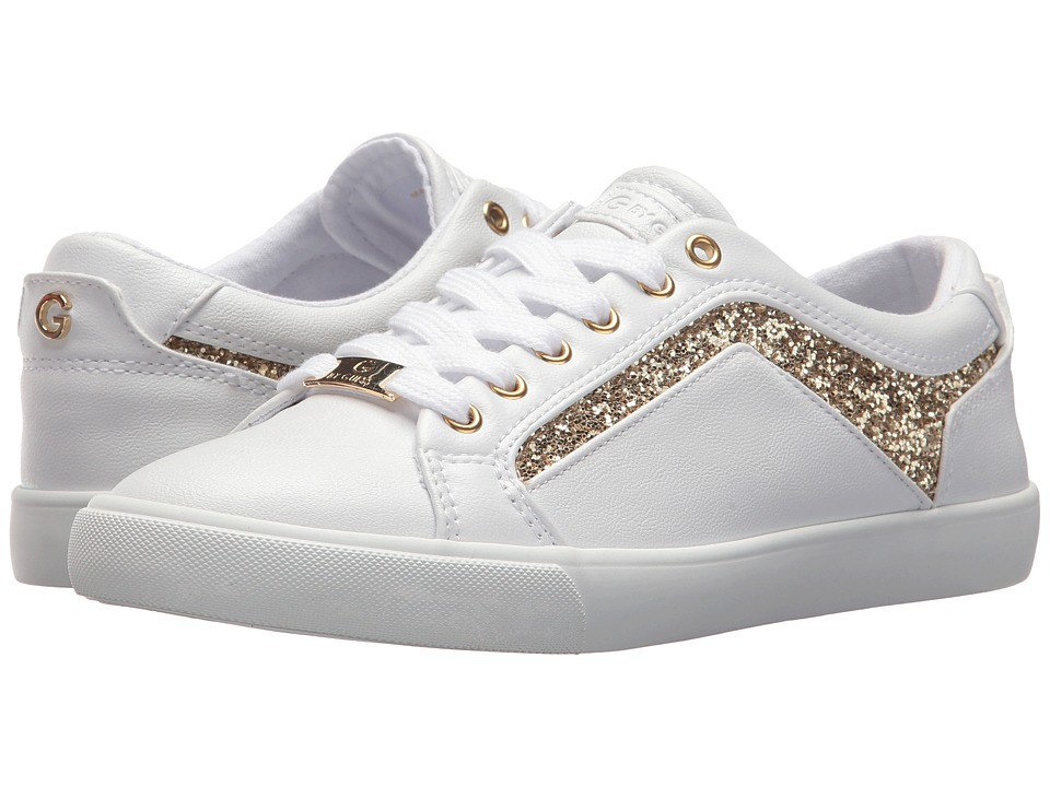 G by GUESS - Mint (White/Gold Glitter) Women's Shoes