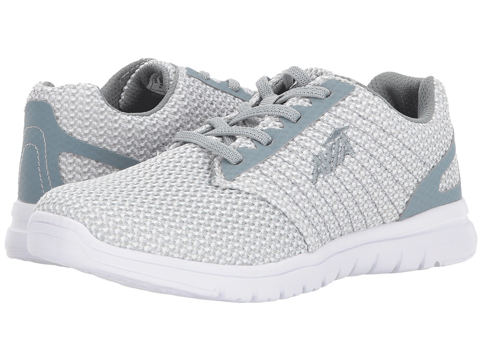 Avia - Avi-Solstice (White/Cool Mist Grey/Saber Blue) Women's Shoes