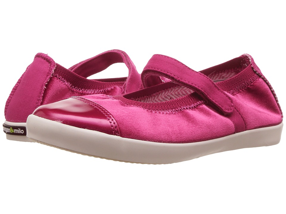 Morgan&Milo Kids Olivia Velvet Mary Jane (Toddler/Little Kid) (Pink) Girls Shoes