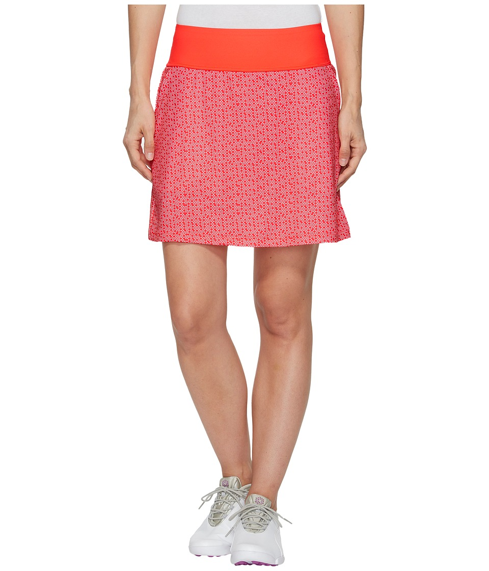PUMA Golf PWRSHAPE Polka Dot Knit Skirt (Bright Plasma) Women