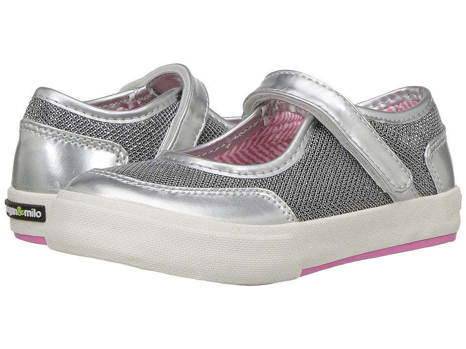 Morgan&Milo Kids Maddie Mary Jane (Toddler/Little Kid) (Silver Metallic) Girls Shoes