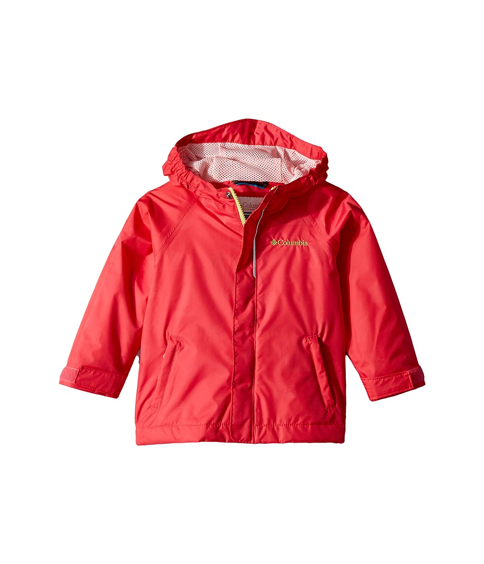 Columbia Kids Fast Curioustm Rain Jacket (Toddler) (Punch Pink Campin Invizzaprint/Cherry Blossom) Girl