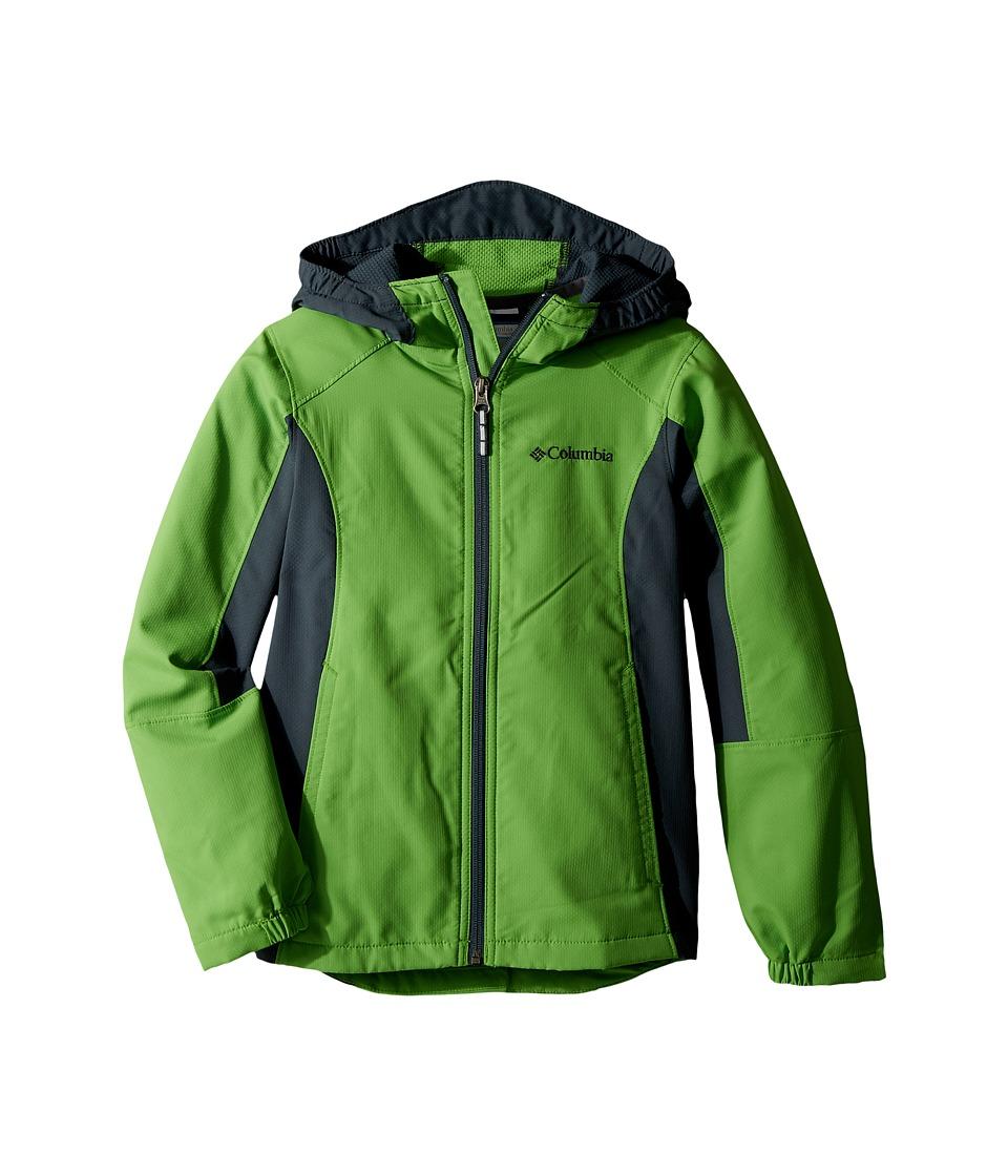Columbia Kids SplashFlashtm II Hooded Softshell Jacket (Toddler) (Cyber Green/Mystery) Boy