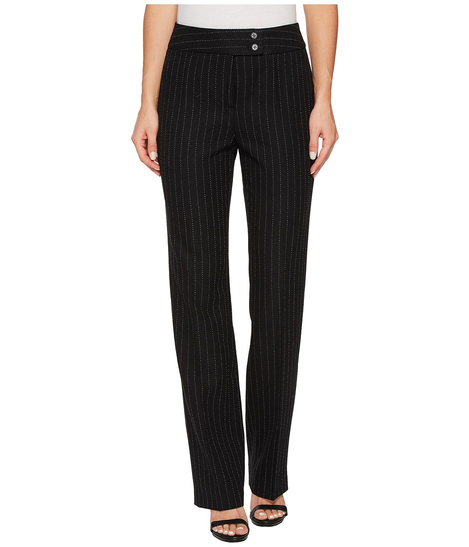 Tahari by ASL - Pinstripe Pants (Black/Ivory) Women's Casual Pants