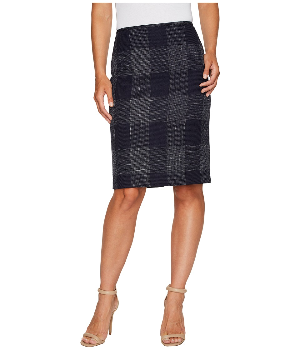 Tahari by ASL - Plaid Pencil Skirt (Navy/Ivory) Women's Skirt