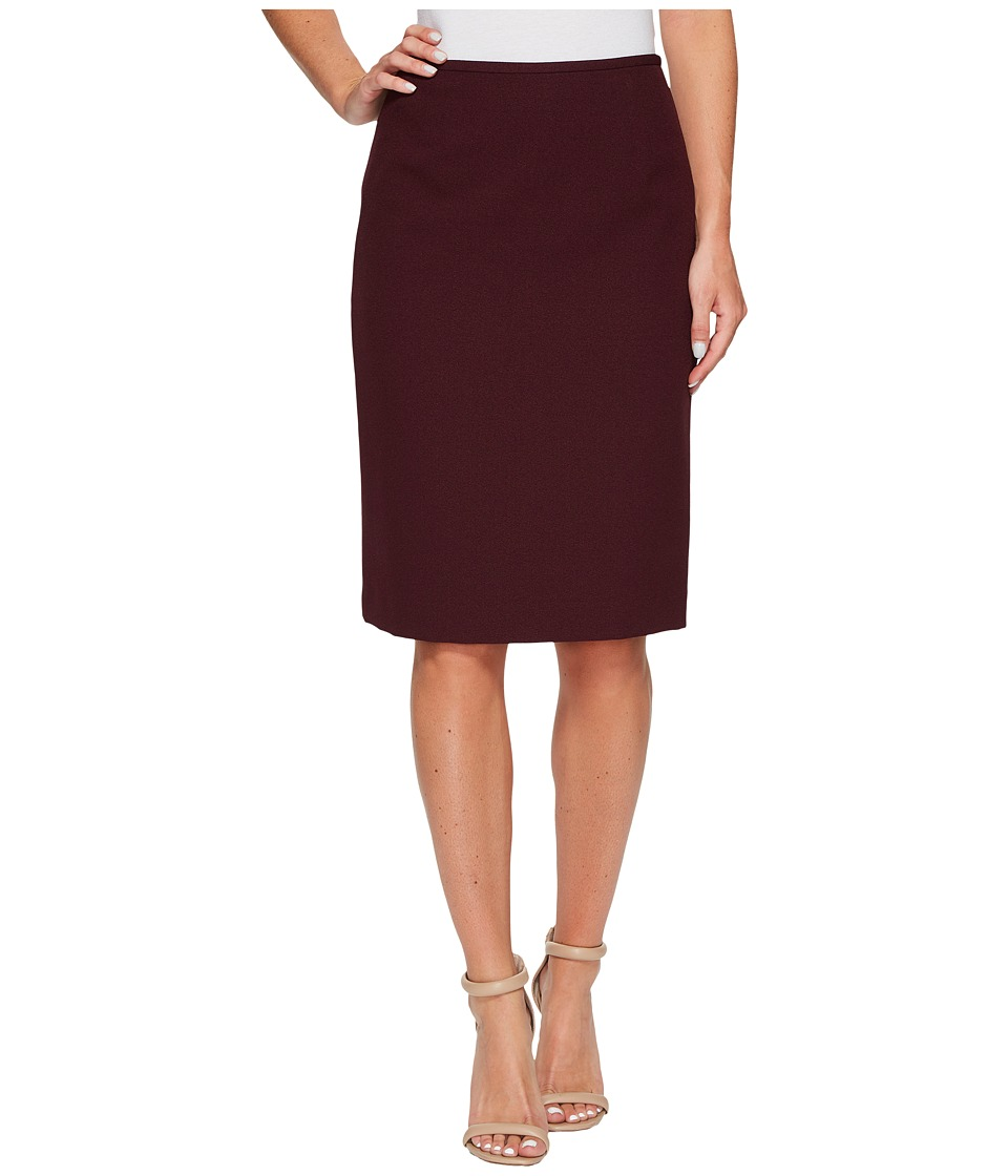 Tahari by ASL - Crepe Pencil Skirt (Wine) Women's Skirt
