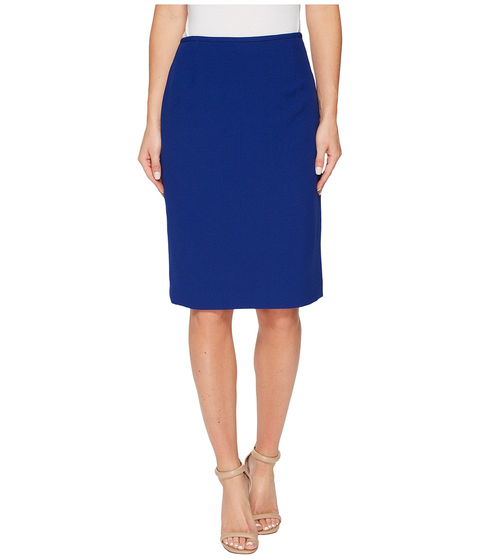 Tahari by ASL - Crepe Pencil Skirt (Cobalt) Women's Skirt