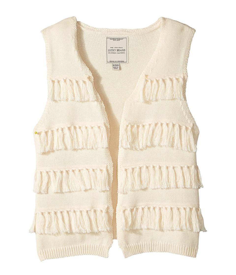 Lucky Brand Kids - Elise Sweater Vest (Big Kids) (Biscotti) Girl's Sweater