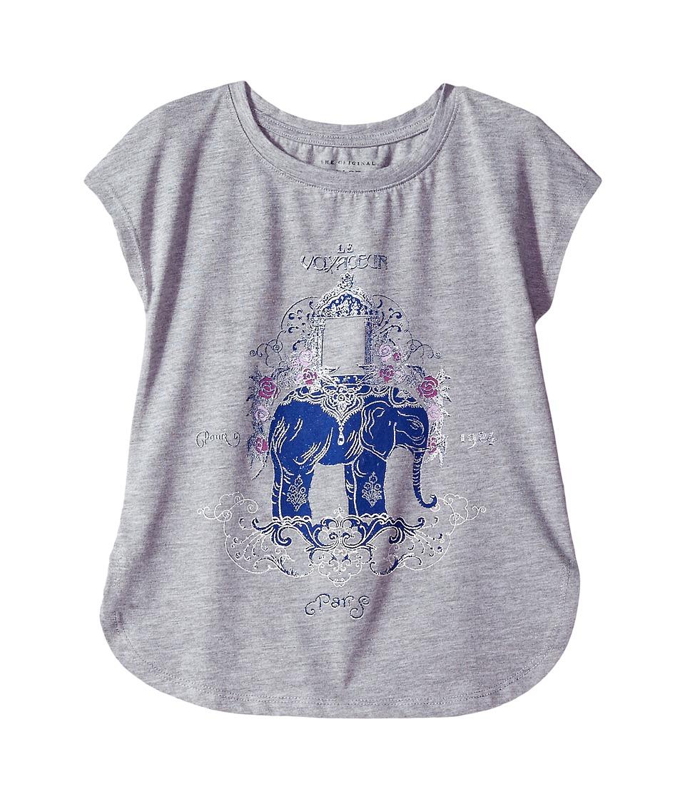 Lucky Brand Kids - Olivia Graphic Tee (Big Kids) (Grey Heather) Girl's T Shirt