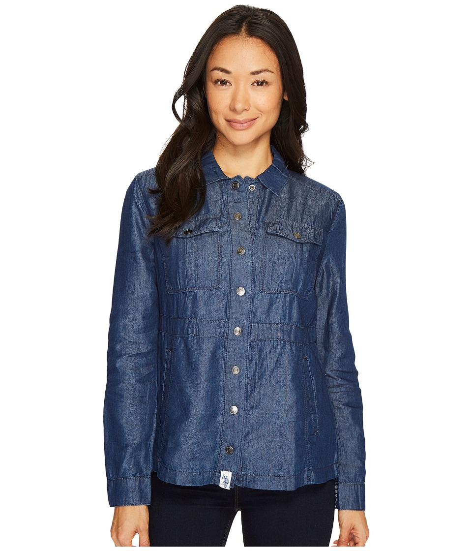 U.S. POLO ASSN. - Dark Indigo Tencel Anorak (Blue) Women's Clothing