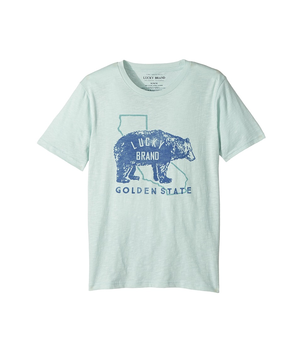 Lucky Brand Kids - Golden State Short Sleeve Graphic Tee (Big Kids) (Cool Window) Boy's T Shirt