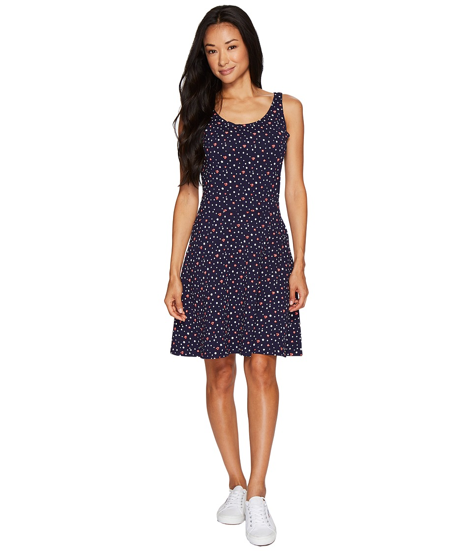 U.S. POLO ASSN. Sleeveless Print Dress (Evening Blue) Women
