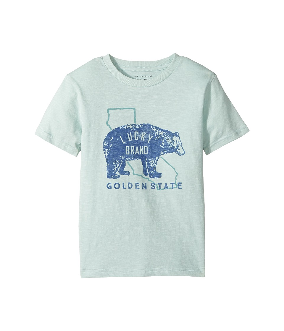 Lucky Brand Kids - Golden State Short Sleeve Graphic Tee (Toddler) (Cool Window) Boy's T Shirt