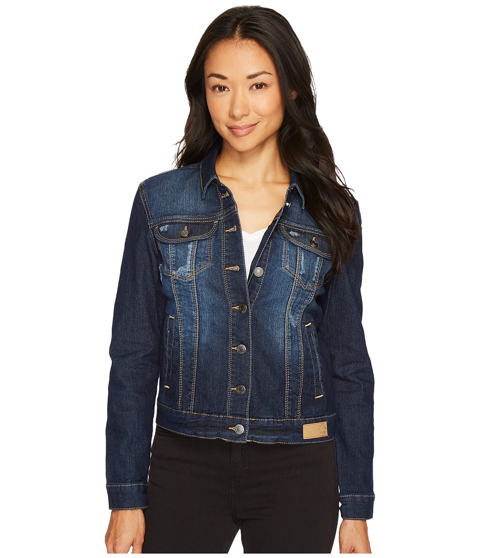 U.S. POLO ASSN. - Indigo Stretch Denim Jean Jacket (Blue) Women's Coat