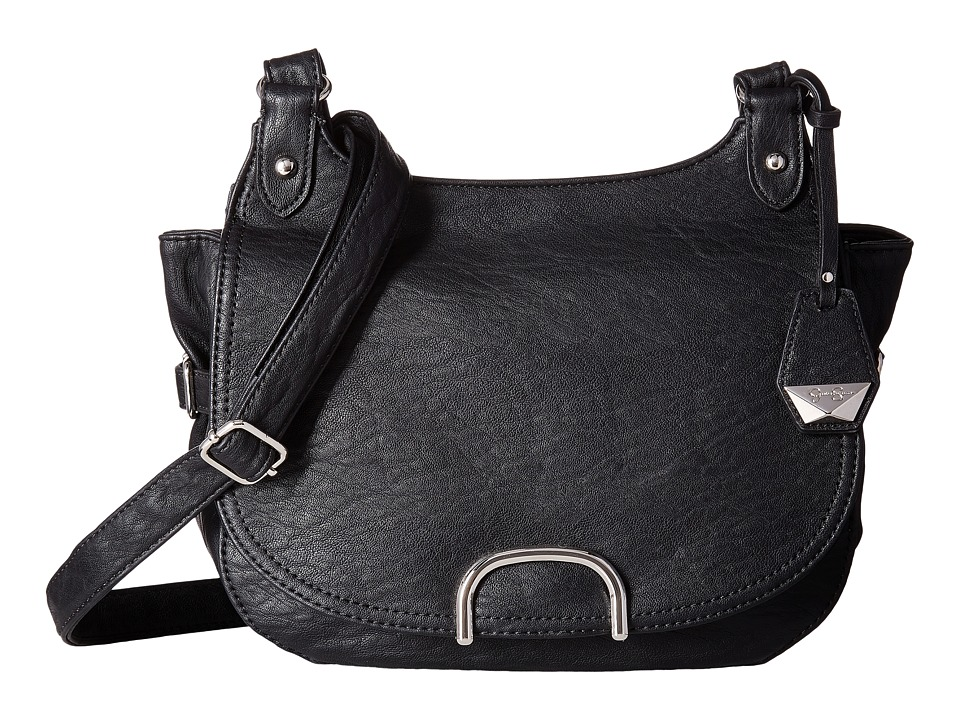 Jessica Simpson - Claireen Messenger Crossbody (Black) Handbags