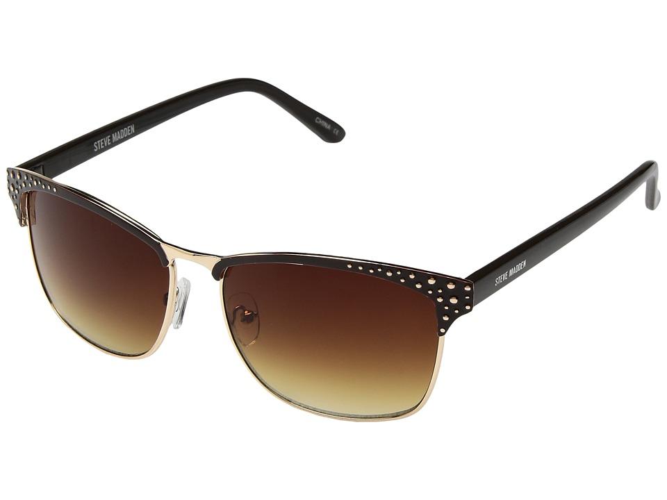 Steve Madden - S5474 (Gold/Brown) Fashion Sunglasses