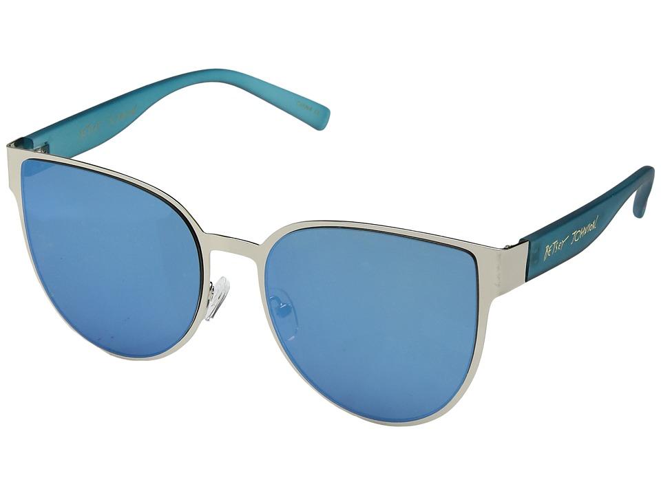 Betsey Johnson - BJ479181 (Silver/Blue) Fashion Sunglasses
