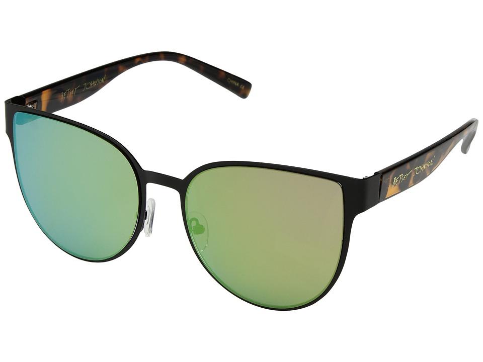 Betsey Johnson - BJ479181 (Black/Tort) Fashion Sunglasses