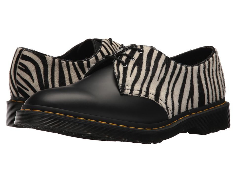 Dr. Martens 1461 Zeb (Zebra Hair On/Black Smooth) Boots