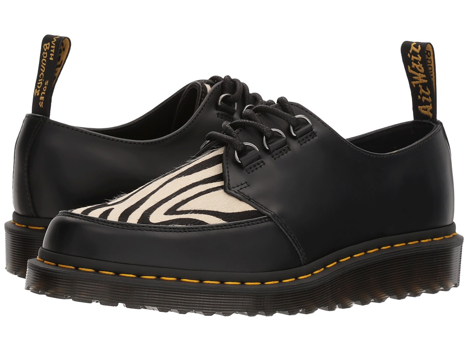 Dr. Martens Ramsey Zebra (Black Smooth/Zebra Hair On) Boots