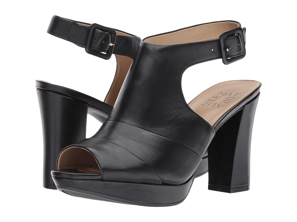 Naturalizer - Adrie (Black Leather) Women's Shoes