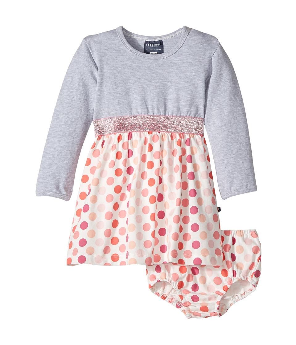 Toobydoo - Fun Dots Play Dress (Infant/Toddler) (Grey/Pink Dot) Girl's Dress