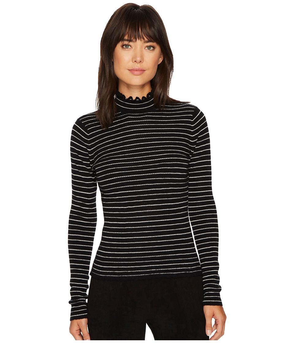 Rebecca Taylor Merino Wool Pullover (Black Stripe) Women