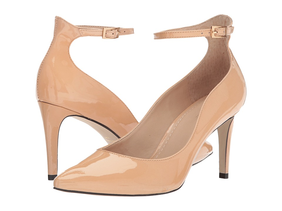 Massimo Matteo Ankle Strap Pump (Nude Patent) High Heels