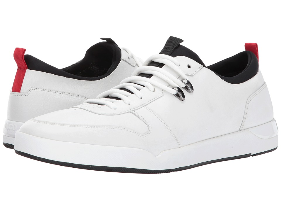 BOSS Hugo Boss - Fusion Leather Sneaker by HUGO (White) Men's Lace up casual Shoes