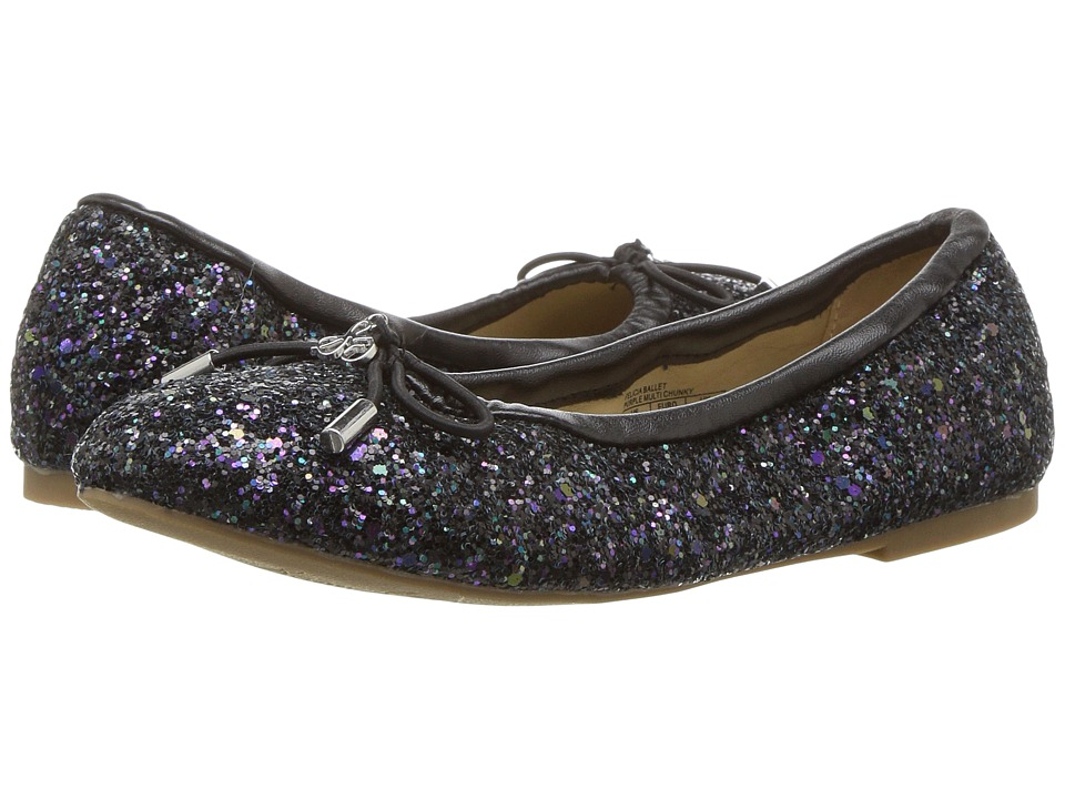 Sam Edelman Kids Felicia Ballet (Little Kid/Big Kid) (Black Glitter) Girls Shoes