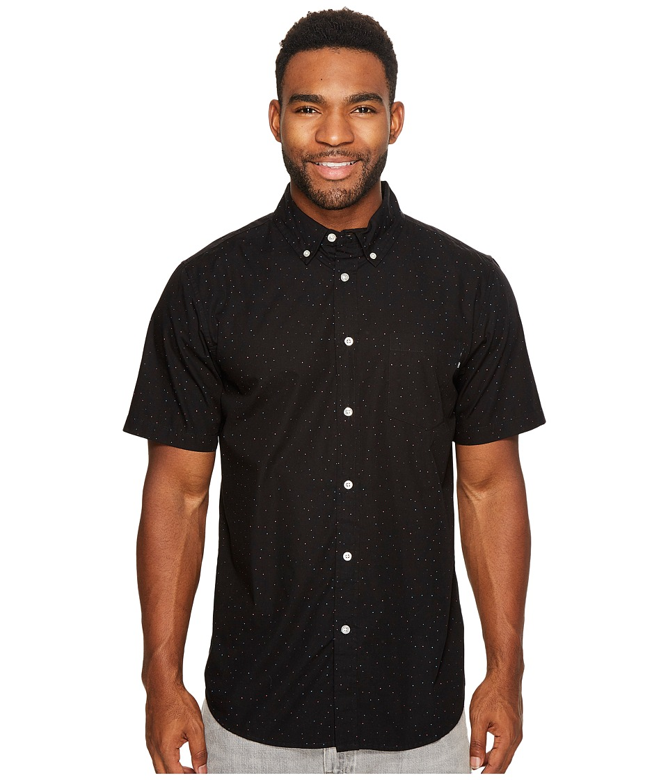 Obey - Voyage Woven Short Sleeve (Black Multi) Men's Clothing