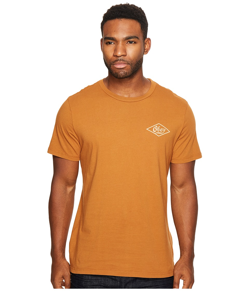 Obey - Photo Script Tee (Bombay Brown) Men's T Shirt