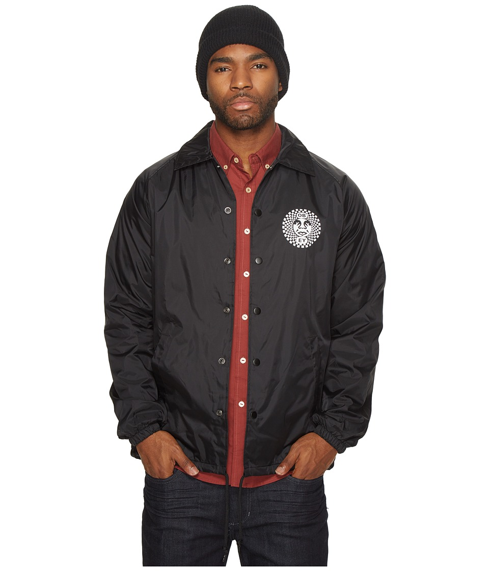 Obey - Dance Party Coaches Jacket (Black) Men's Coat