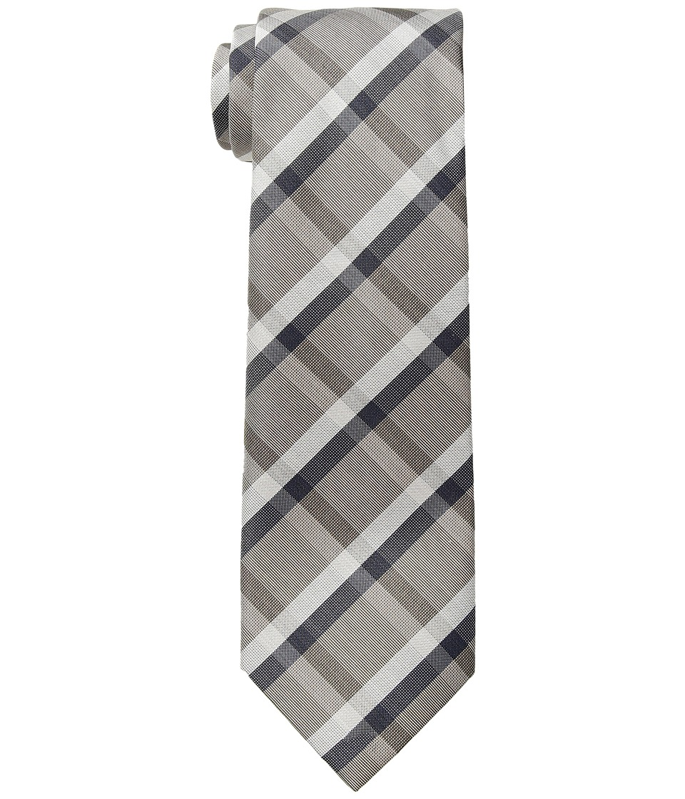 Kenneth Cole Reaction - Union Plaid (Taupe) Ties