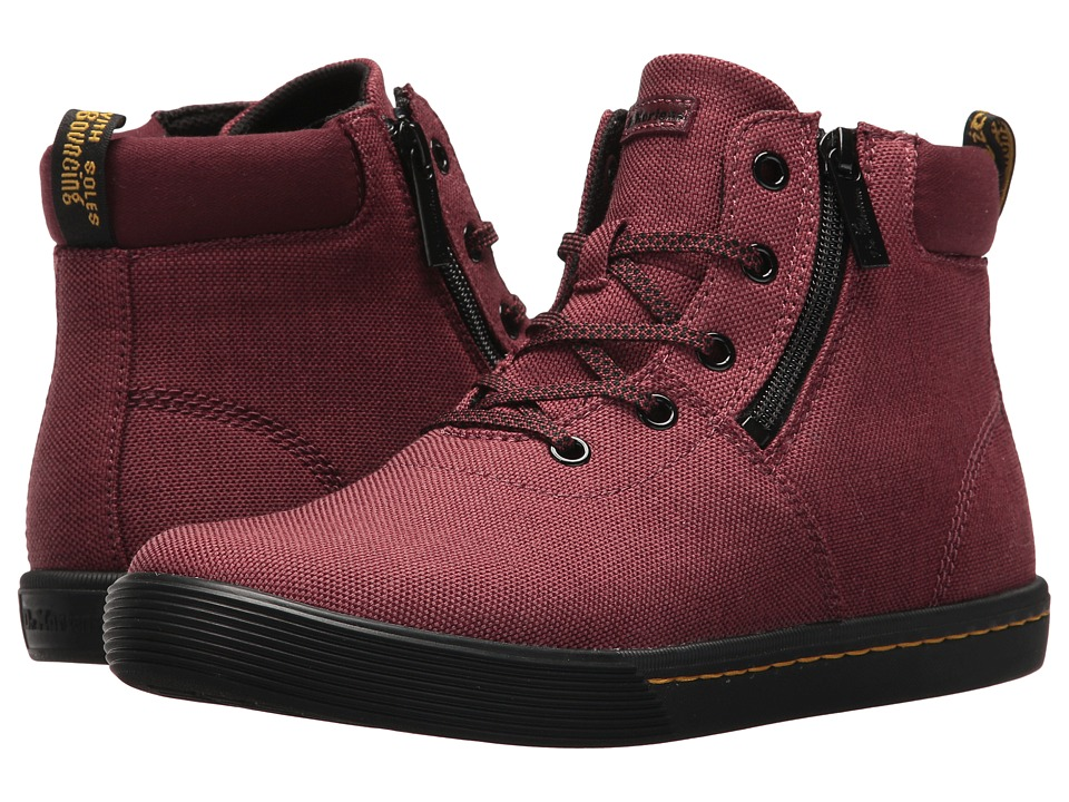 Dr. Martens Maegley (Cherry Red/Apple Butter Woven Textile/Fine Canvas/T Lamper) Women