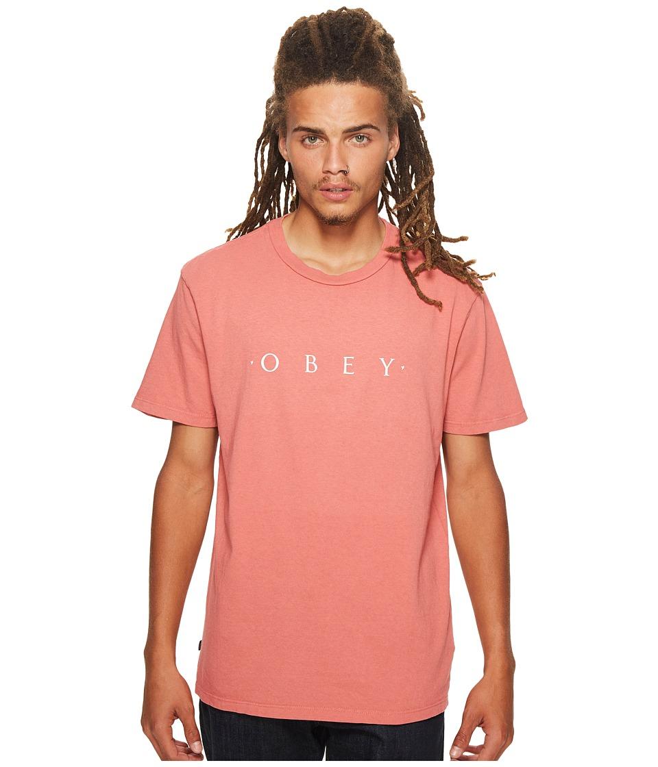 Obey - Novel Obey Tee (Dusty Dark Rose) Men's T Shirt