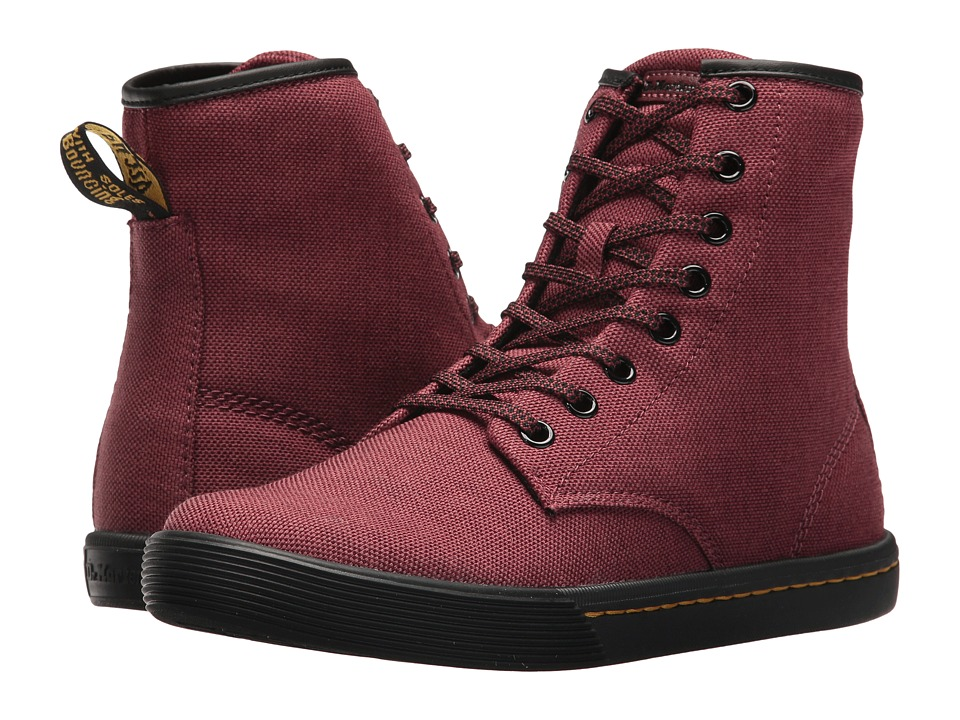 Dr. Martens Sheridan (Cherry Red/Apple Butter Woven Textile/Cherry Red T Lamper) Women