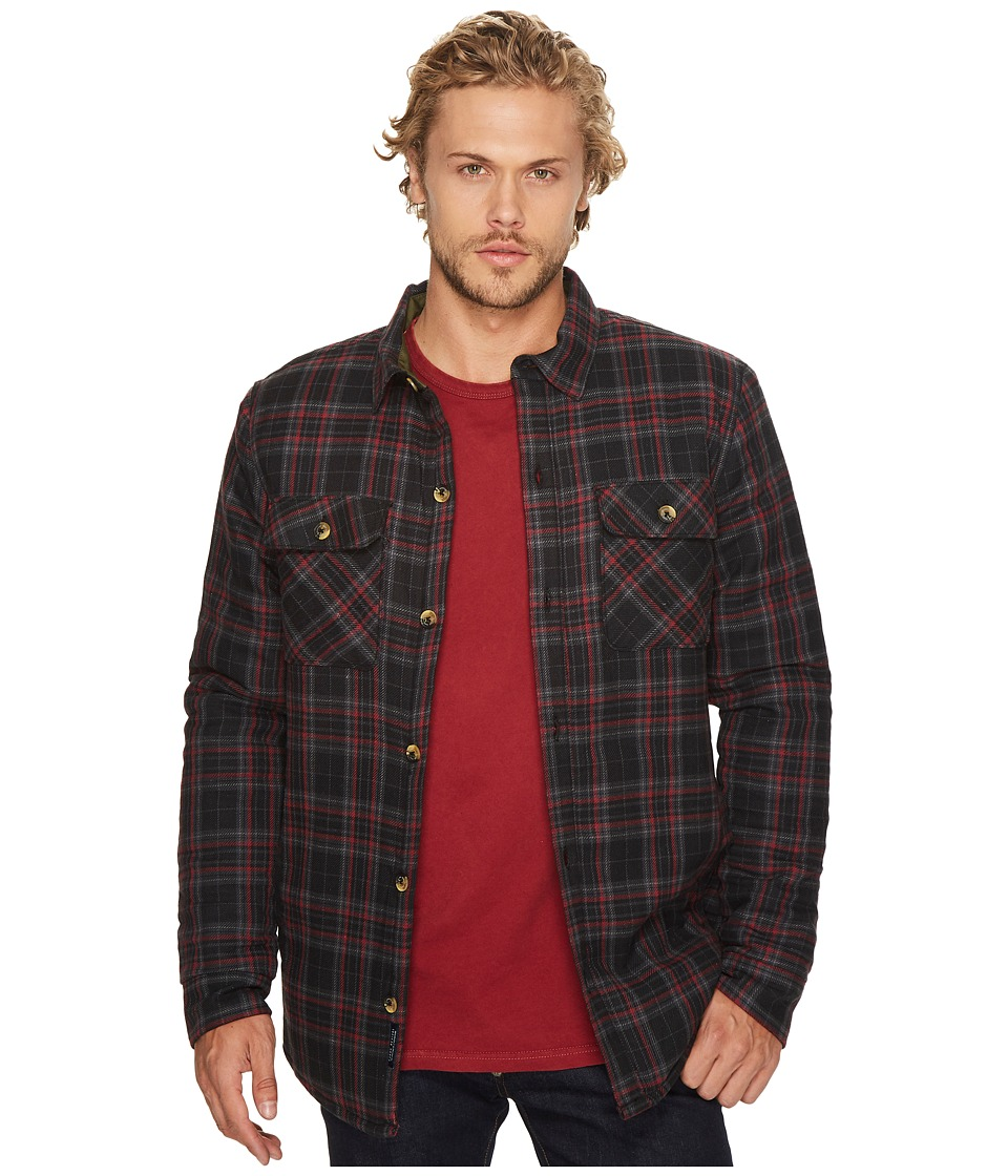 Roark - Federation Long Sleeve Woven Flannel (Charcoal) Men's Clothing