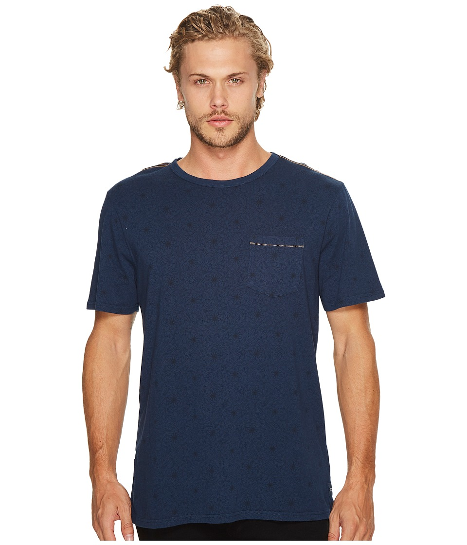 Roark - Well Worn Print Short Sleeve Knit (Indigo) Men's Clothing