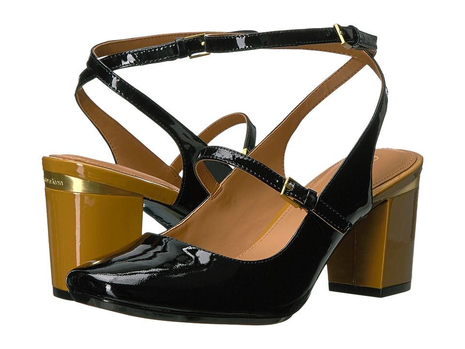 Calvin Klein - Cleary (Black Patent) Women's Shoes