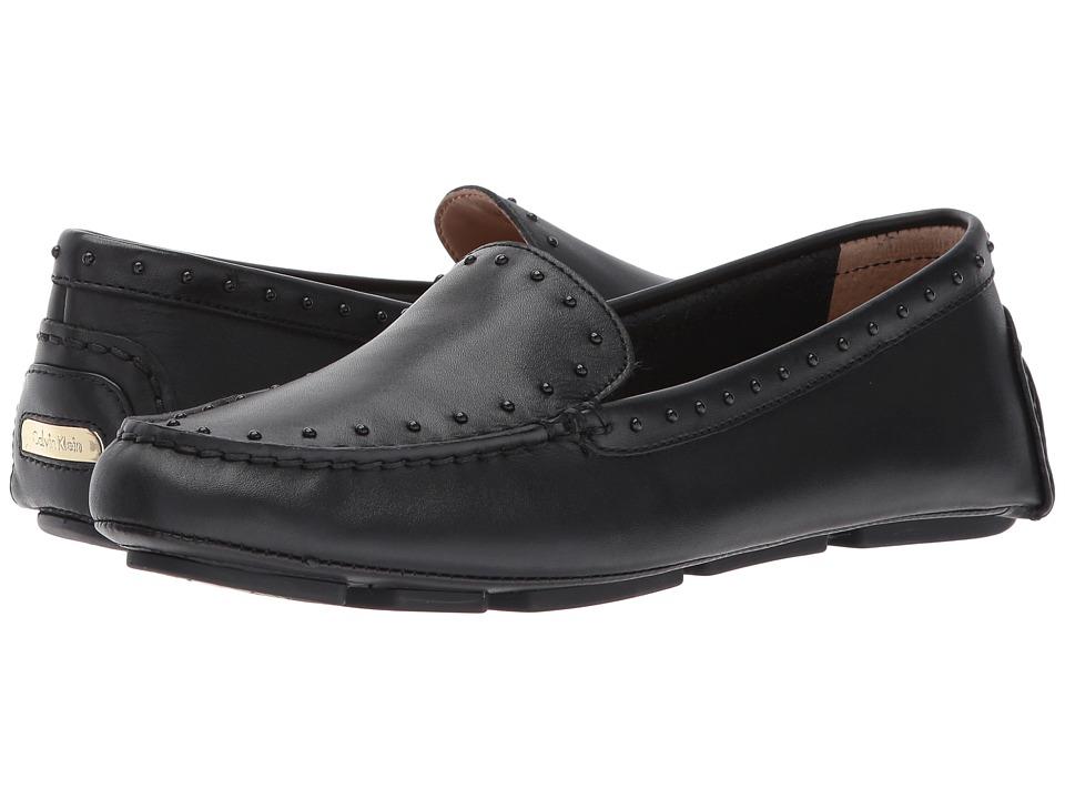 Calvin Klein - Lolly (Black Cow Silk/Tonal Studs) Women's Shoes