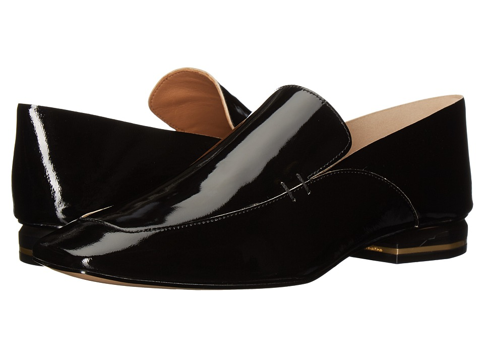Calvin Klein Bia (Black Soft Patent/Soft Patent Unlined) Women