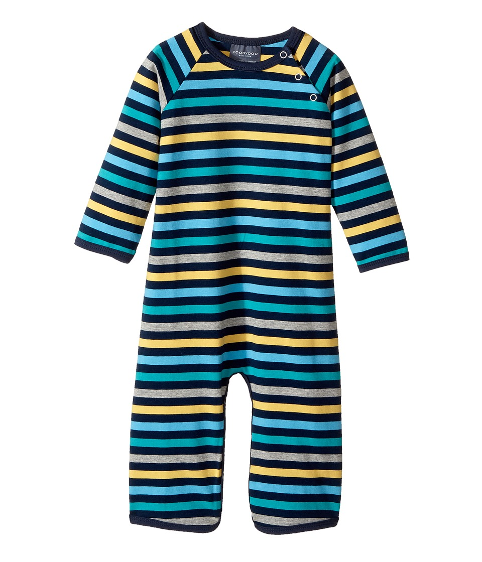 Toobydoo - The Oscar Bootcut Jumpsuit (Infant) (Navy/Yellow/Grey/Blue/Green) Boy's Jumpsuit & Rompers One Piece